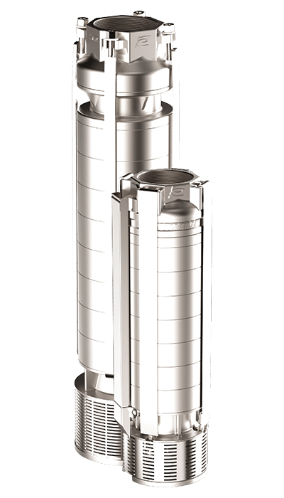 Submersible radial inox pumps 6'' and 8'' inches
